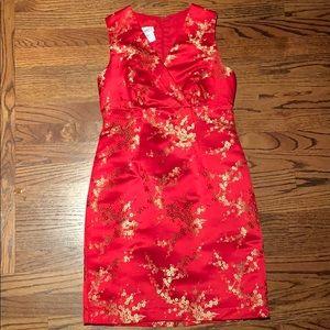 Moda International Red/Gold Asian Style Mini Dress